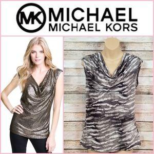 Michael Kors Drape Neck Sleeveless Top